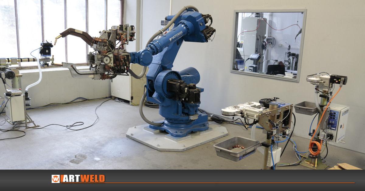 Robotické svařování, odporové svařování, automatizace, robotizace