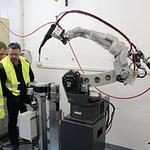 Instalace stanice výměny průvlaků TIPMAN ve výukové místnosti Centra pro robotizaci a automatizaci Artweld