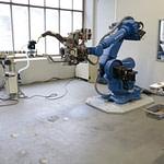 Ukázka instalace stanic pro výměnu a frézování čepiček KYOKUTOH v centru robotizace a automatizace Artweld