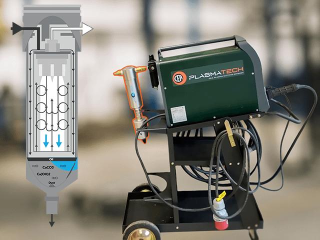 Ukázka instalace filtru KingAir na plasmové řezačce CEA Shark, která pro svůj provoz vyžaduje suchý vzduch zbavený všech nečistot.